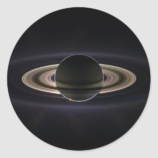 Ethereal Saturn` Classic Round Sticker