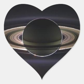 Ethereal Saturn` Heart Sticker