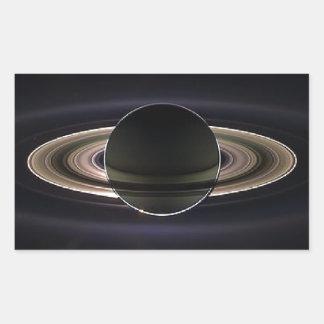 Ethereal Saturn` Rectangular Sticker