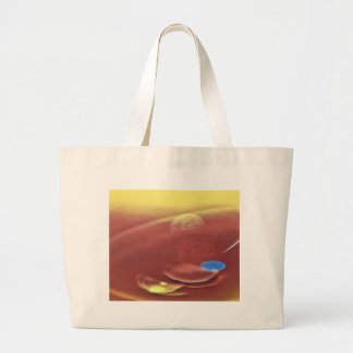 Ethereal Sci-fi Alien Planets Large Tote Bag