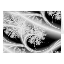 ethereal snowflakes holiday greeting card