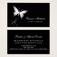 Ethereal Sparkle Butterfly Elegant Event Planner Business Card at Zazzle