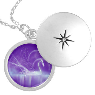 Ethereal Swan Locket Necklace