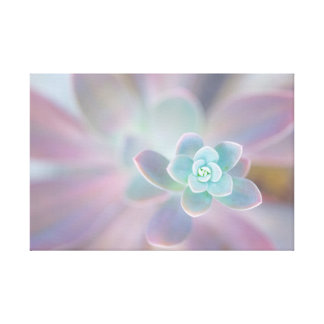 Ethereal to flower canvas print