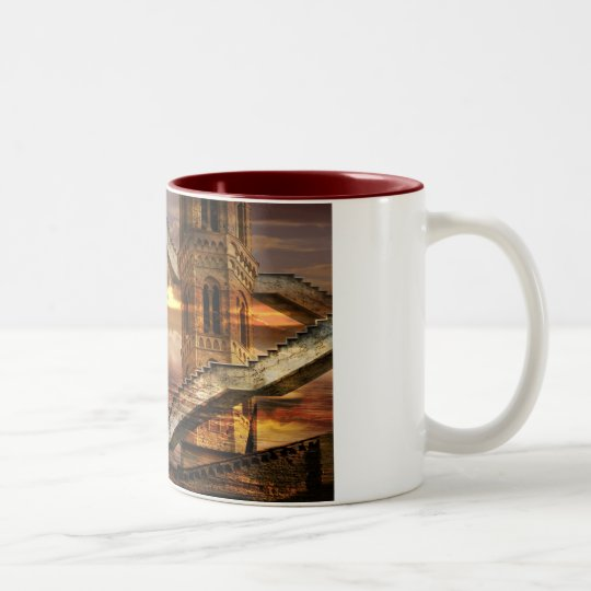 Ethereal towers Two-Tone coffee mug