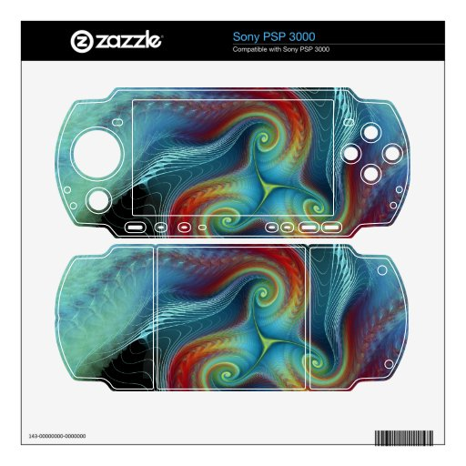 Ethereal veil gaming Zazzle Skin Decals For The PSP 3000