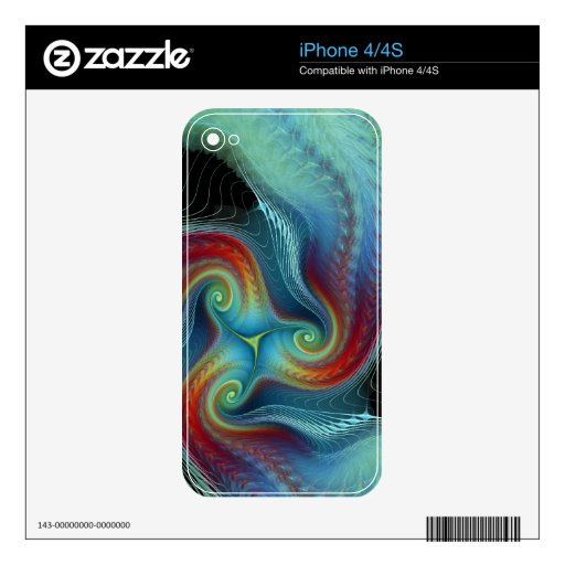 Ethereal veil iPhone 4/4S Zazzle Skin Skins For The iPhone 4S