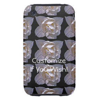 Ethereal White Bloom in Light and Shadow iPhone 3 Tough Case