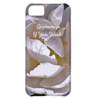 Ethereal White Bloom in Light and Shadow iPhone 5C Covers