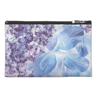Ethereal Winter Purple and Blue Flora Travel Accessory Bag