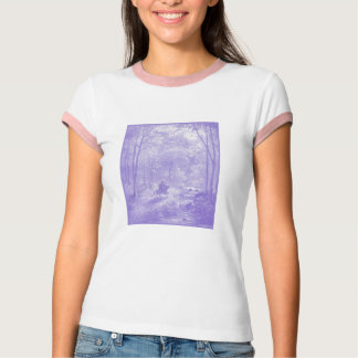 Ethereal Woodcut of Knight T-Shirt
