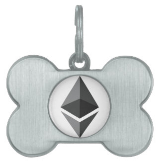 ETHEREUM in Black Pet ID Tag
