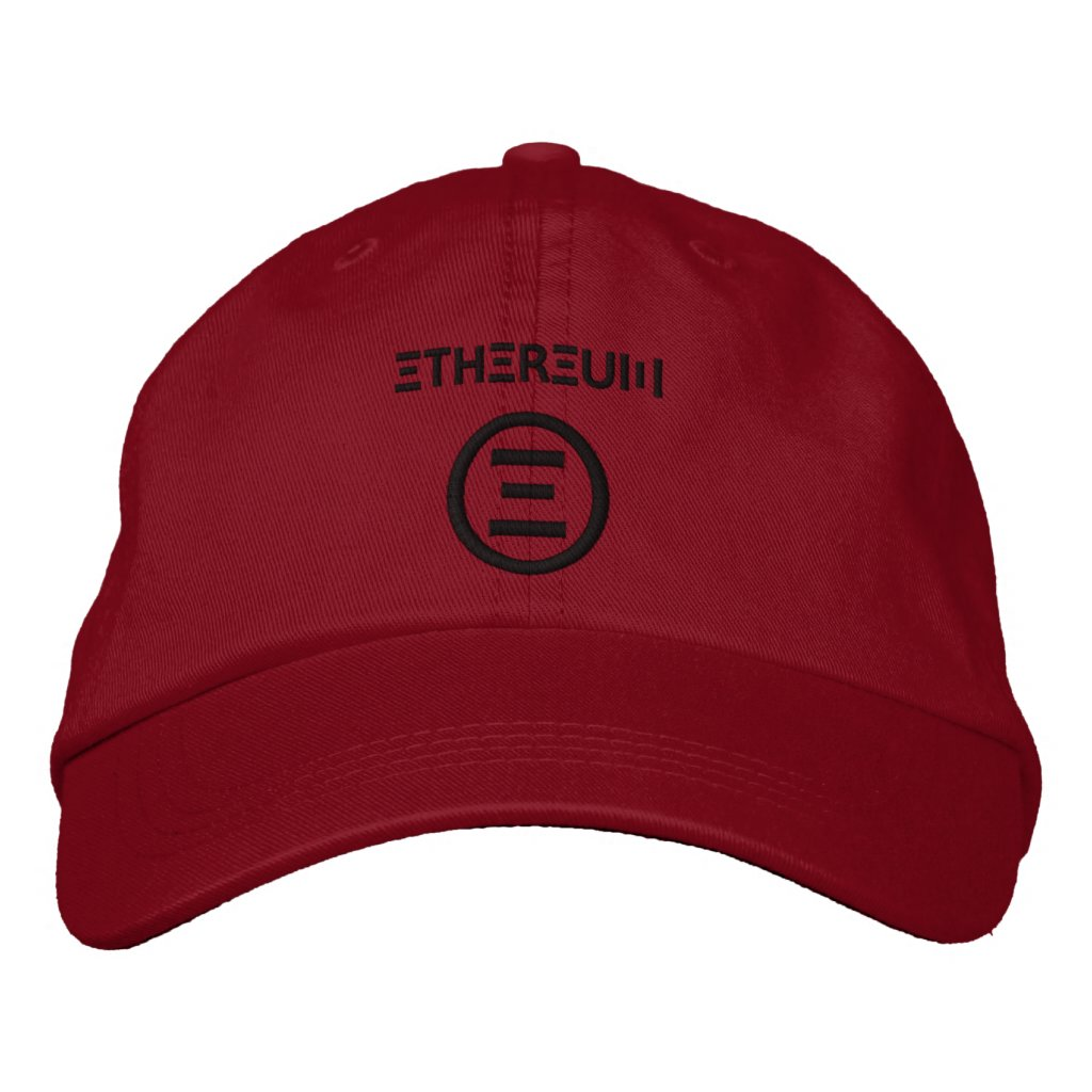 Ethereum Symbol Dark Red Baseball Cap
