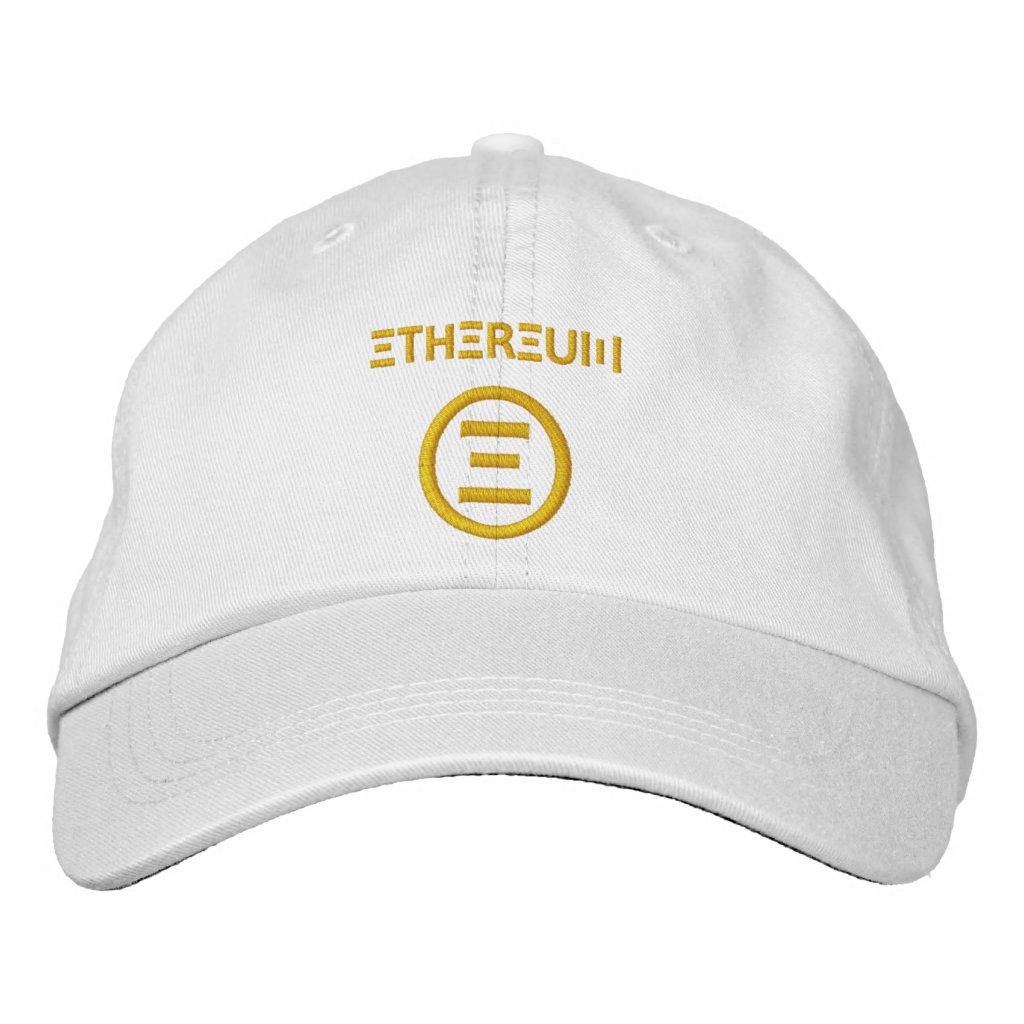 Ethereum Symbol Gold Baseball Cap