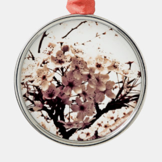 Etherial White Cherry Blossoms Ornament