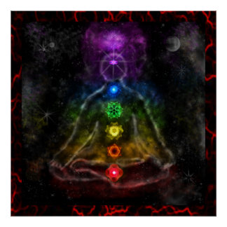 ETHERIC AURA CHAKRA POSTERS