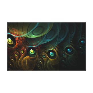 Etheric Multi-Dimension wrapped canvas 18x11 Canvas Print
