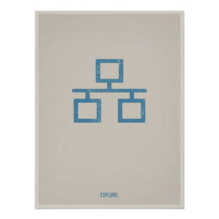 Ethernet Minimalistic Poster at Zazzle