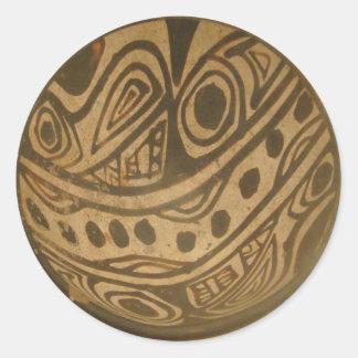 Ethic Museum Bowl Design Classic Round Sticker