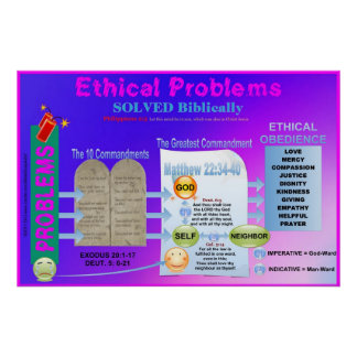 Ethical Problems Solved Classroom Chart Poster