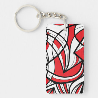 Ethical Refreshing Warmhearted Reassuring Double-Sided Rectangular Acrylic Keychain
