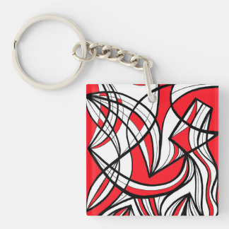 Ethical Refreshing Warmhearted Reassuring Single-Sided Square Acrylic Keychain