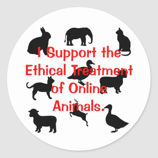 Ethical Treatment Classic Round Sticker