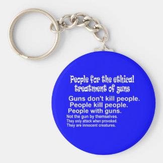 Ethical Treatment of Guns Dark Keychain