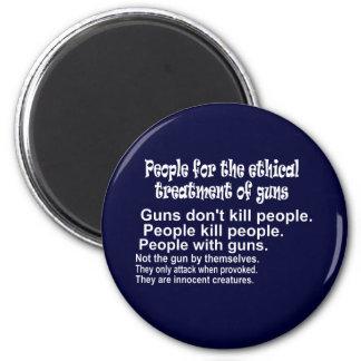 Ethical Treatment of Guns Dark Round Magnet