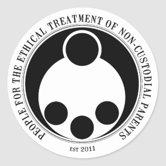 Ethical Treatment of Non-Custodial Parents Classic Round Sticker