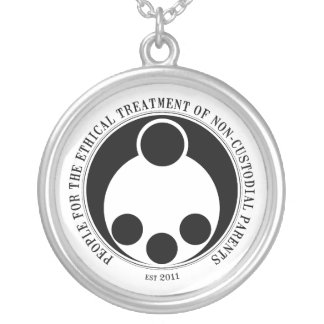 Ethical Treatment of Non-Custodial Parents Round Pendant Necklace