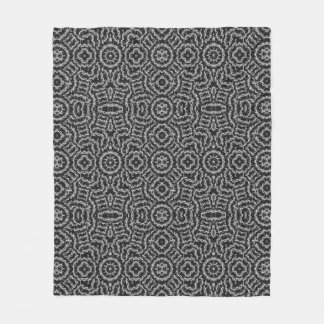 Ethinc Black and White Fleece Blanket