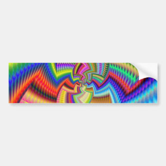 Ethincally Funky Colours Bumper Sticker