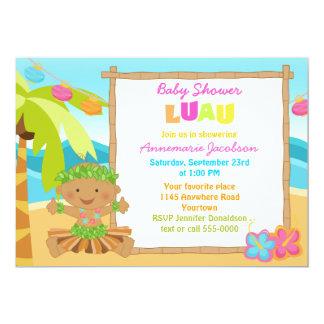 Ethinic Boys Lua Baby Shower Custom Announcements