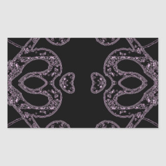 Ethinic dark pattern rectangular sticker