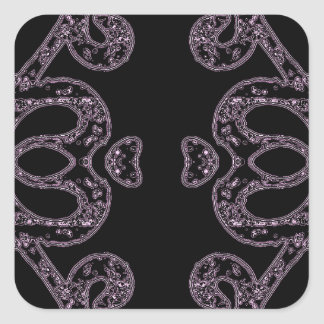 Ethinic dark pattern square sticker