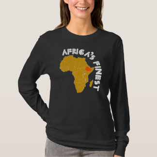 Ethiopia, Africa's Finest map of Africa T-Shirt