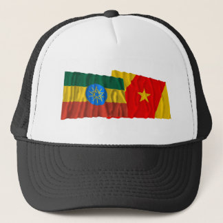 Ethiopia and Amhara Waving Flags Trucker Hat