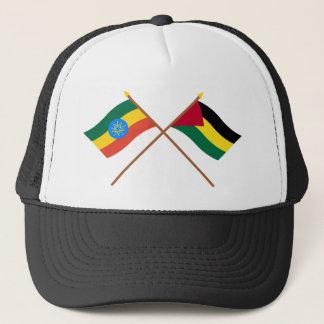Ethiopia and Benishangul-Gumaz Crossed Flags Trucker Hat