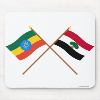 Ethiopia and Oromia Crossed Flags Mouse Pad