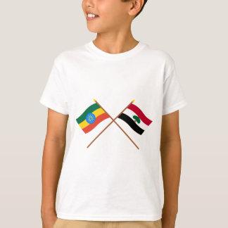 Ethiopia and Oromia Crossed Flags T-Shirt