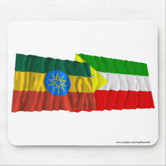 Ethiopia and Somali Waving Flags Mouse Pad