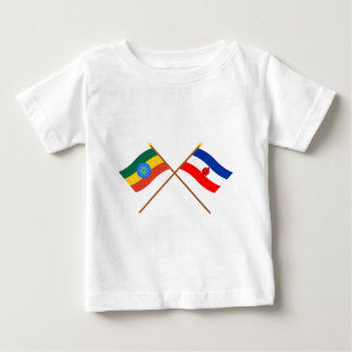 Ethiopia and Southern Crossed Flags Baby T-Shirt