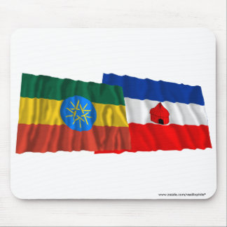 Ethiopia and Southern Waving Flags Mouse Pad