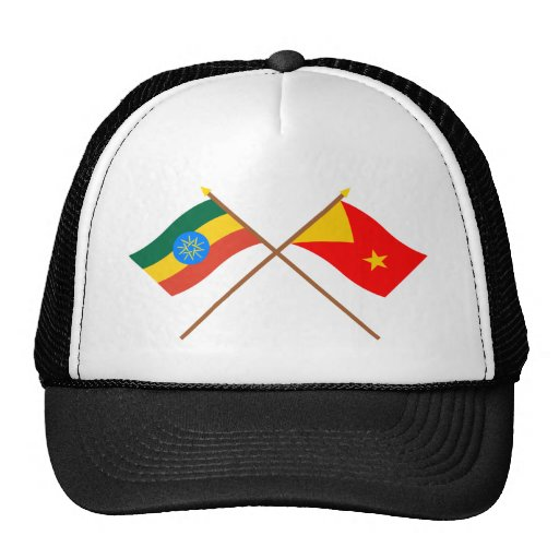 Ethiopia and Tigray Crossed Flags Hats