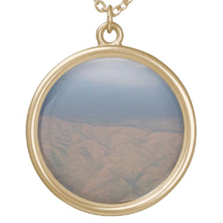 Ethiopia - Arial View #1 Gold Plated Necklace