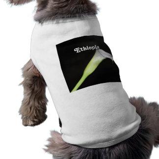 Ethiopia Calla Lily Doggie T-shirt