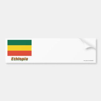 Ethiopia Civil Flag with Name Bumper Sticker