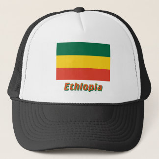 Ethiopia Civil Flag with Name Trucker Hat