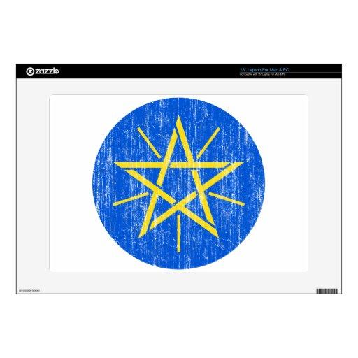 "Ethiopia Coat Of Arms 15"" Laptop Decal"
